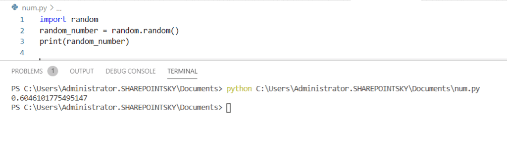 Python generate random number