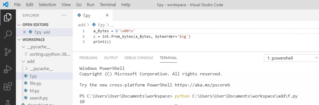 Convert bytes to int in python