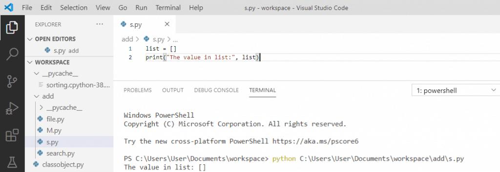 Python create an empty list