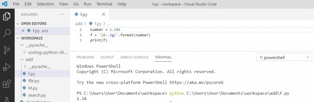 Python decimal format