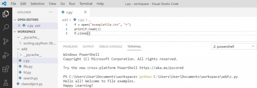 Python file close() method