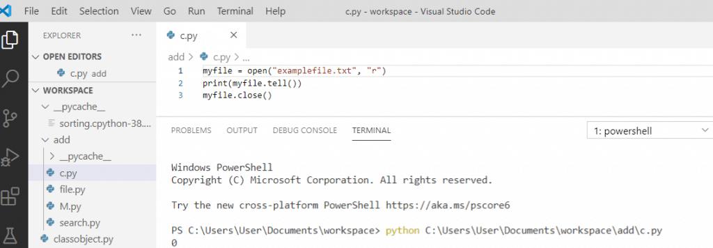 Python file tell() method
