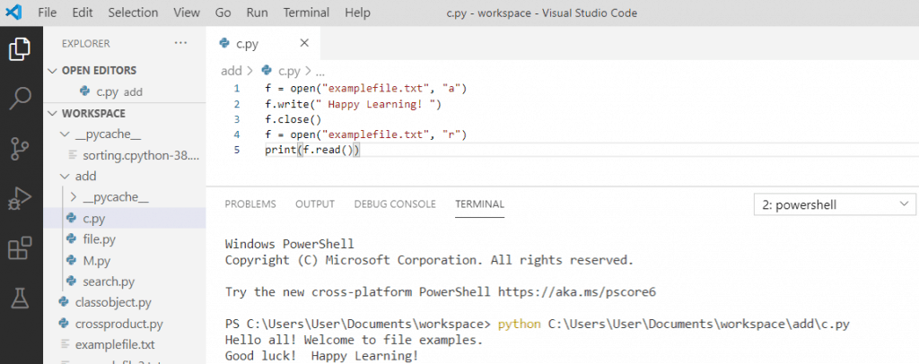 Python file write() method