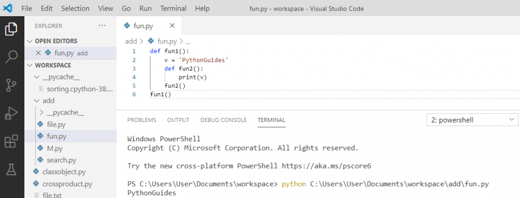 Python nested function variable scoping