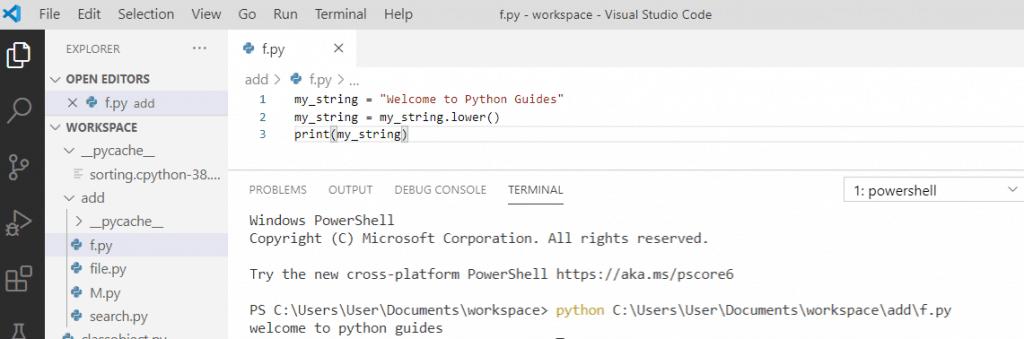 Python string lower() method