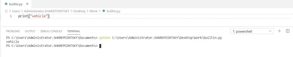 Built-in Namespace