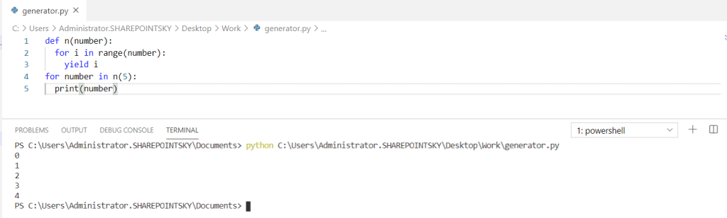 Python generator