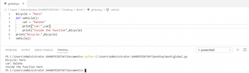 Python Global Namespace
