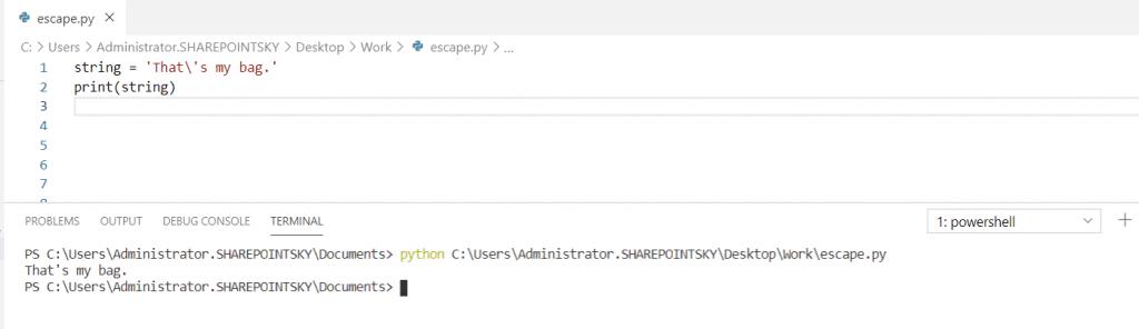 escape single quotes in Python