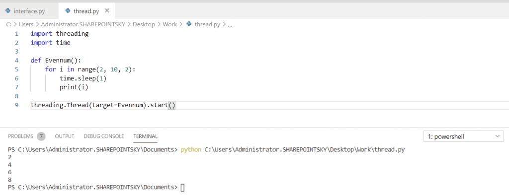 Python Threading