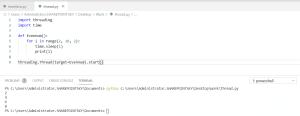 Python threading and multithreading