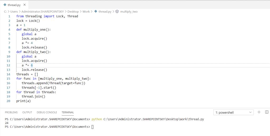 Python threading lock