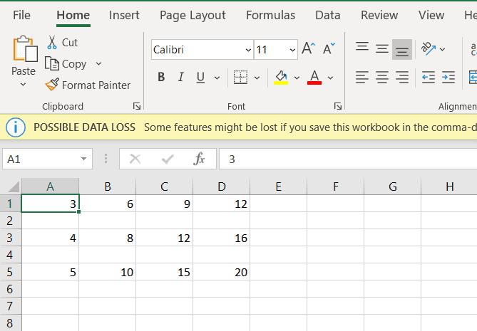 Python write 3D array to CSV file