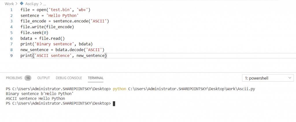 Python read a binary file to Ascii