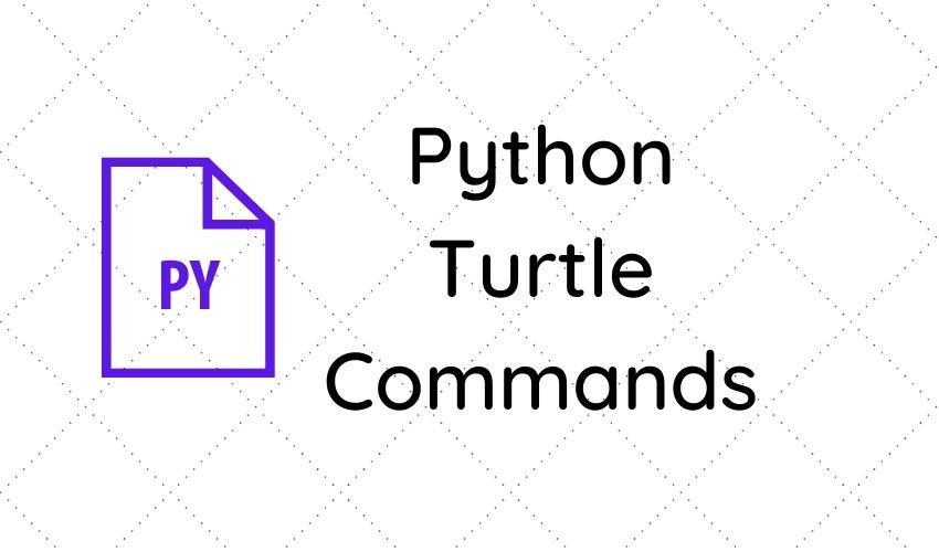 Python Turtle Commands