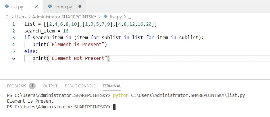 Python check if an item is a subset of another list