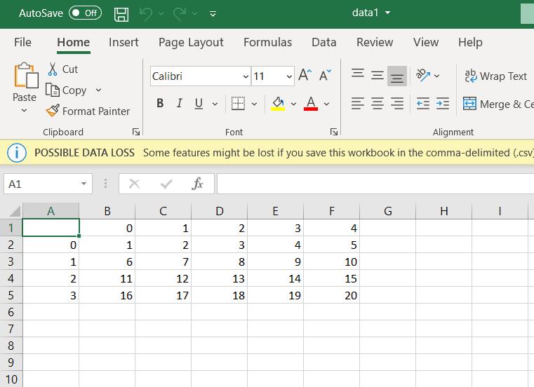 Python write array to CSV