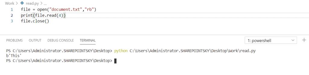 Python read a binary file