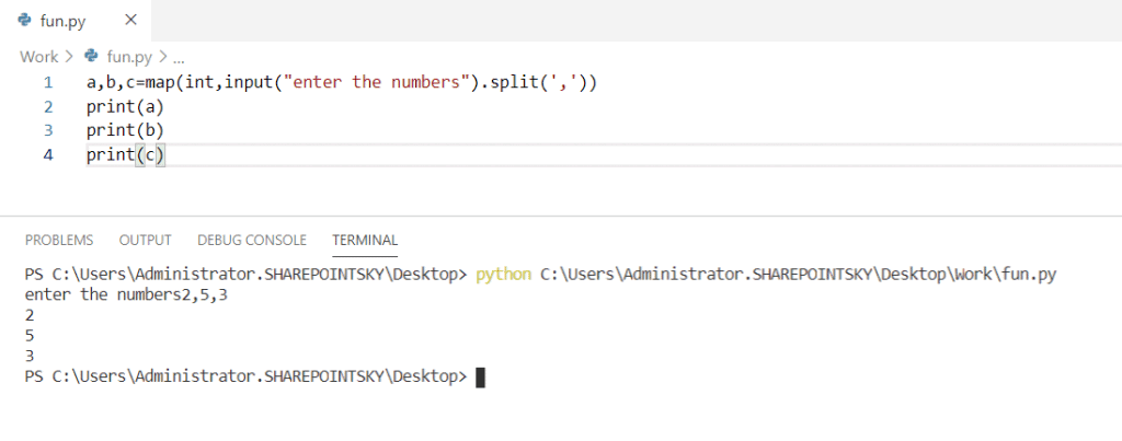 Python how to take continuous input