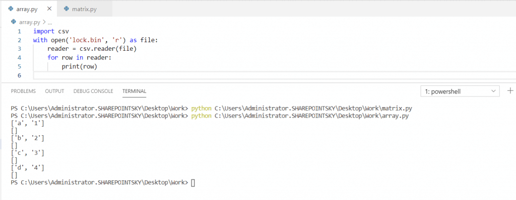 Python read a binary file into CSV