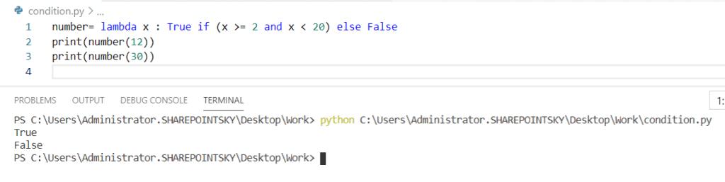 Python lambda function with if-else