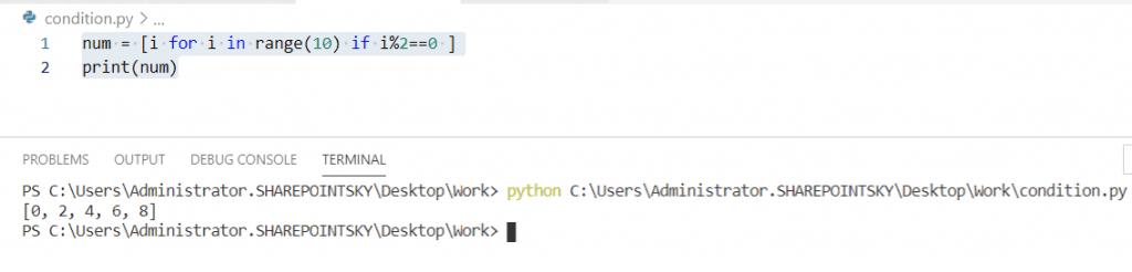 Python list comprehension using if statements
