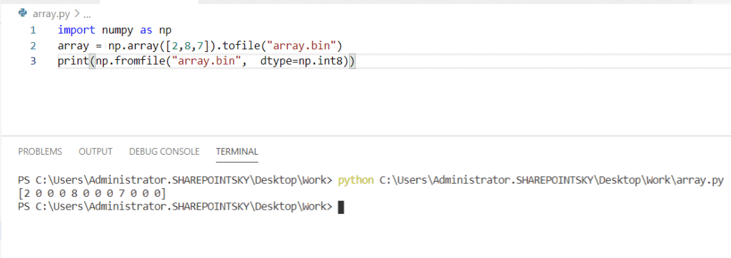 Python read a binary file into a NumPy array