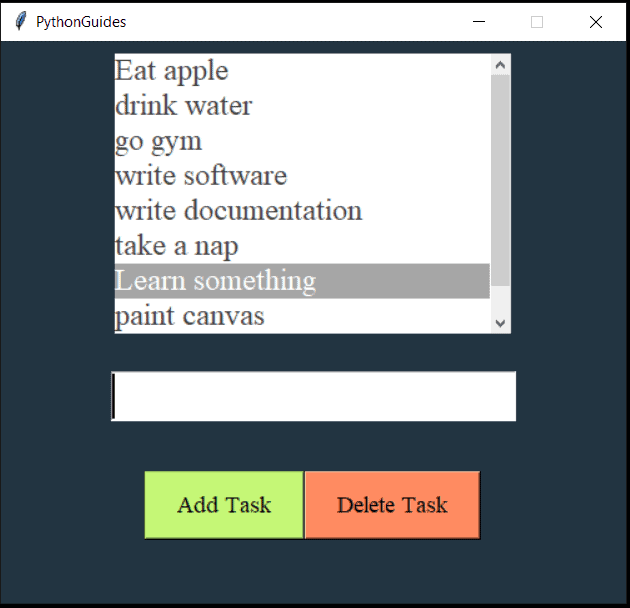 python tkinter todo list project