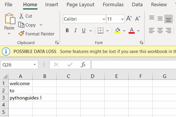 Python write array to CSV row