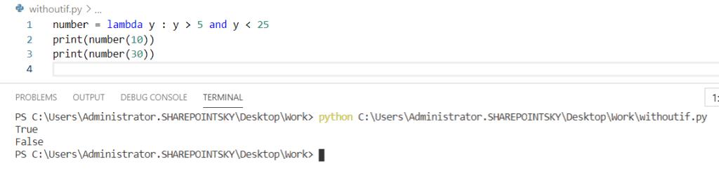 Python lambda function without if-else