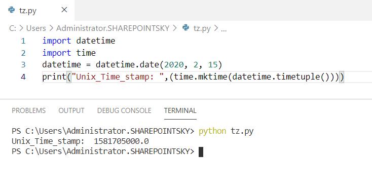 Format Unix timestamp python
