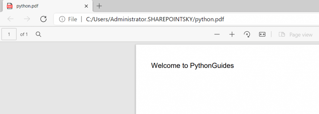 How to create a pdf file in python