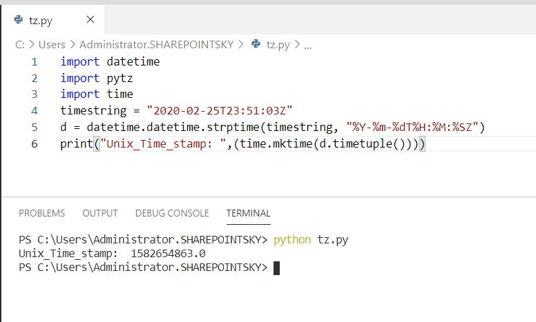 Python Datetime to unix timestamp timezone