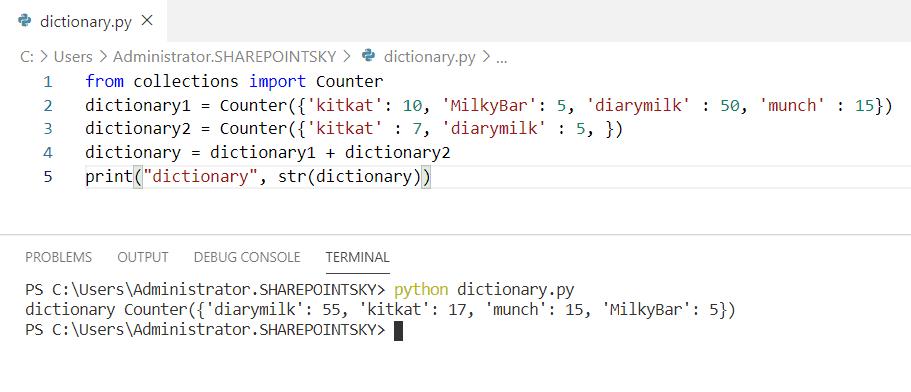 Python concatenate dictionaries with the same keys