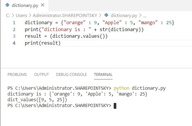 Python concatenate dictionary values
