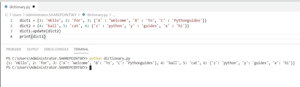 Python concatenate nested dictionaries