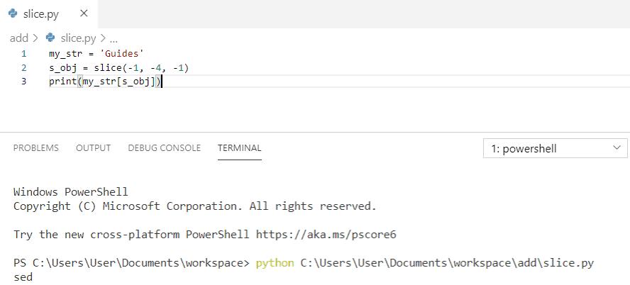 Python get substring using negative index