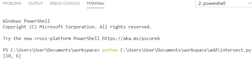 Python intersection of two lists
