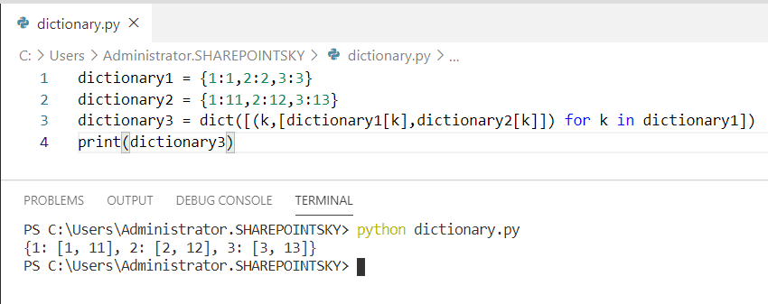 Python join dictionaries on key