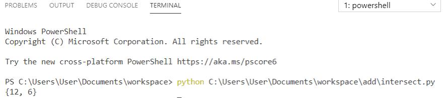Python set intersection using & operators
