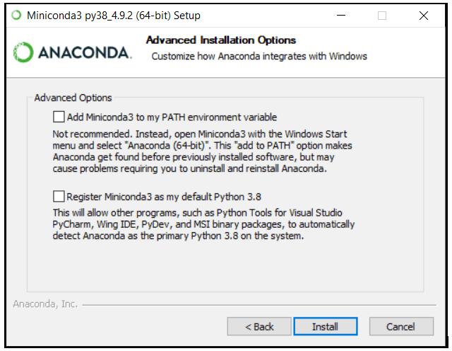 python machine learning installing miniconda step 5