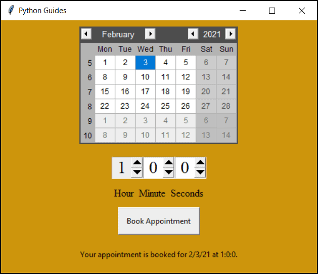 python tkinter date time picker