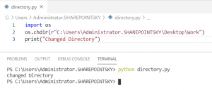 Os change directory Python