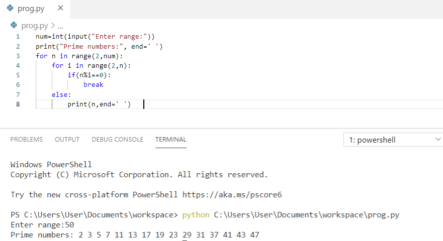 First n prime numbers Python