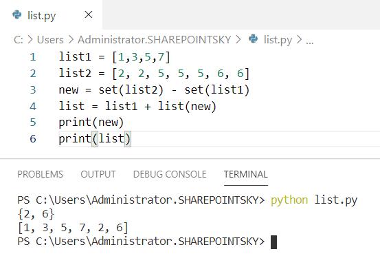 Merge lists python unique