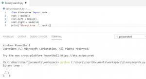 Python binary tree implementation