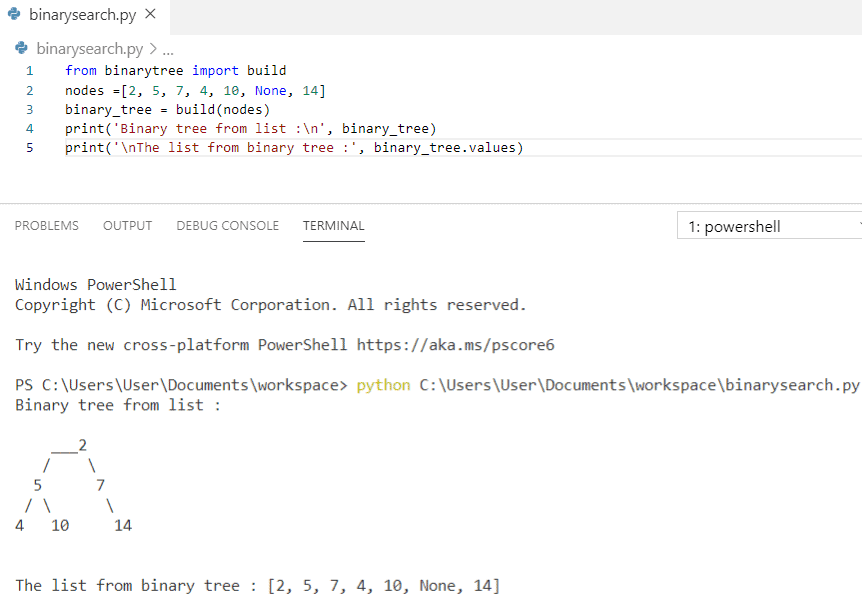 Python build a binary tree from the list