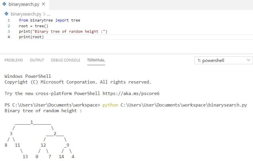Python build a random binary tree