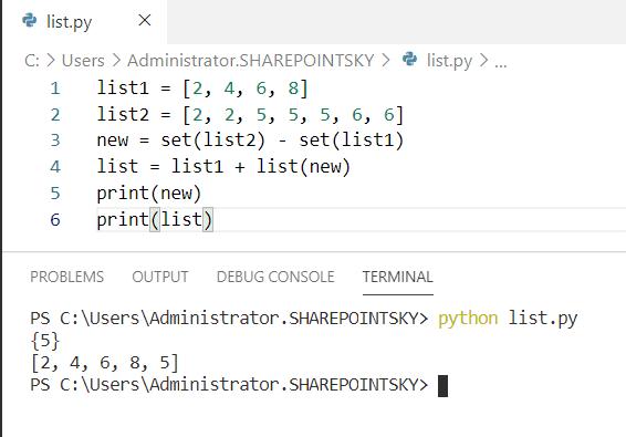 Python concatenate lists without duplicates