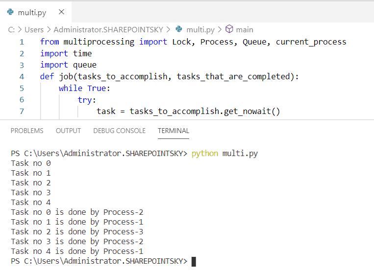 Python multiprocessing Lock Class